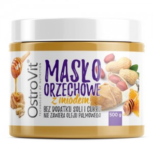 OstroVit PEANUT BUTTER + HONEY 500g