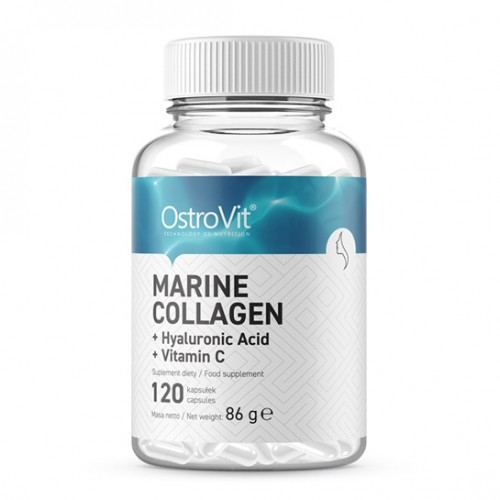 OstroVit COLLAGEN MARINE  with Hyaluronic Acid and Vitamin C 120 caps