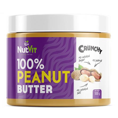 NutVit 100% PEANUT BUTTER 500g