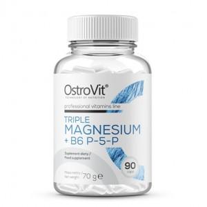 OstroVit TRIPLE MAGNESIUM + B6 P-5-P 90 caps