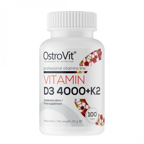 OstroVit VITAMIN D3 4000 + K2 100 tabs